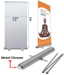 Metal Chrome Standee