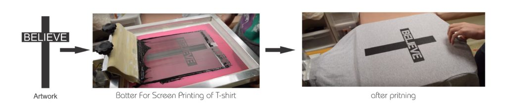 Screen Printing T-shirt