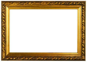 Photo Frame Golden Border