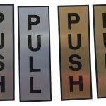 Pull and Push Name Plate