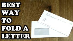 Letter Size envelope