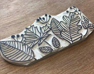 Leaf Printing Block