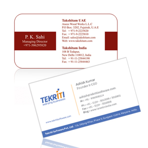 Business Card Silk Printing in Munirka Delhi NCR India