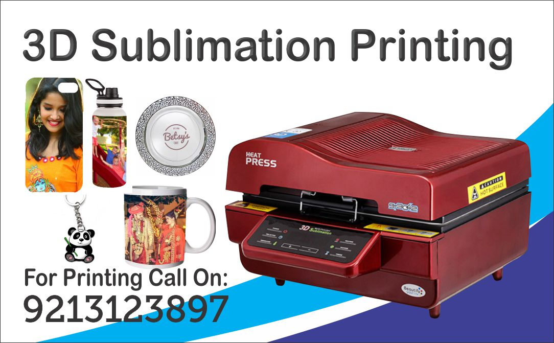 3D Sublimation Printing Munirka, NCR Delhi India